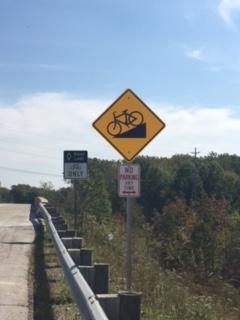 BikeHillSign